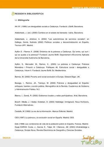 Ressenya Bibliogàfica - Ajuntament de Sant Boi de Llobregat