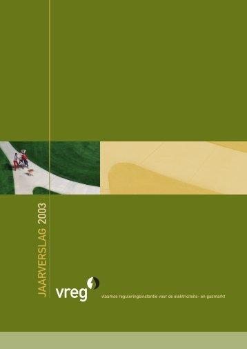 Jaarverslag 2003 - Vreg
