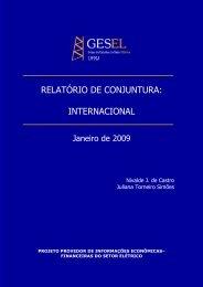 RELATÓRIO DE CONJUNTURA: INTERNACIONAL - Nuca - UFRJ