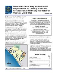 OU-5 Proposed Plan (November 2006) - Marine Corps Base Camp ...