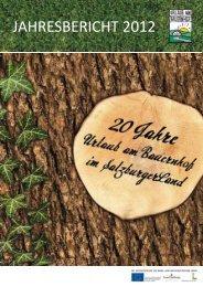 Jahresbericht 2012 - Urlaub am Bauernhof im SalzburgerLand
