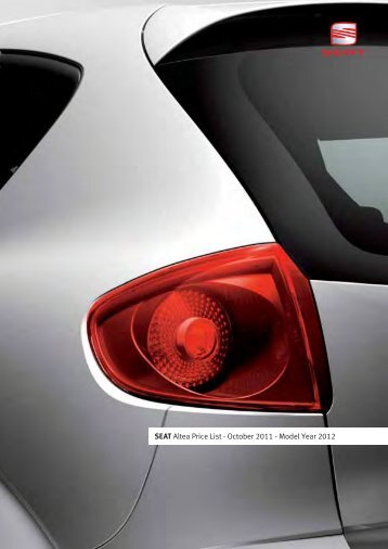 SEAT Altea Price List - October 2011 - Model Year 2012