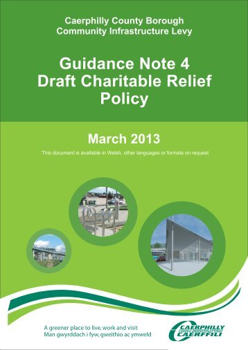 Guidance Note 4 – Draft Charitable Relief Policy (PDF 360kb)