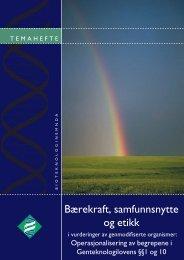 Bærekraft, samfunnsnytte og etikk - Bioteknologinemnda