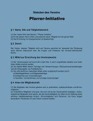 Die Vereinsstatuten [Klick] - Pfarrer-Initiative