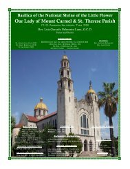 Our Lady of Mount Carmel & St. Therese Parish - the Basilica of the ...