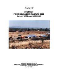 Pedoman Penanggulangan Masalah Gizi Darurat - Suyatno, Ir., MKes
