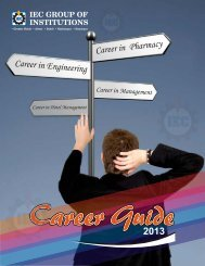 Career Guide - IEC Group of Institution