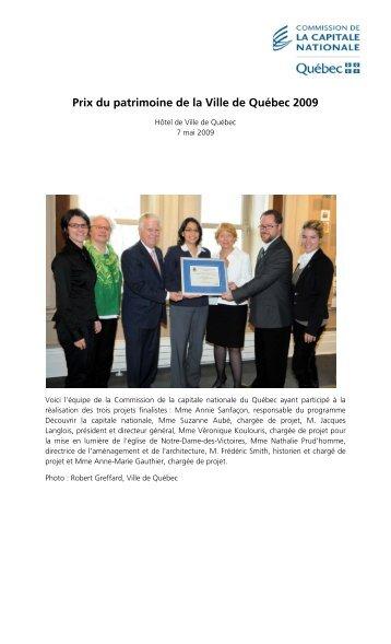 Photos de la remise des Prix du patrimoine 2009 - Commission de ...