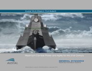 Maximum Combat Power and Agility for the 21st ... - Austal Ships