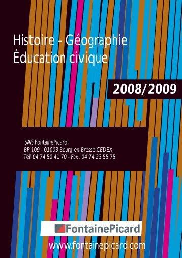 Histoire - Géographie Éducation civique - Fontainepicard