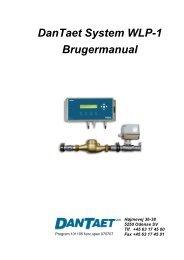 DanTaet System WLP-1 Brugermanual - DanTaet a/s
