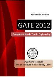 Information Brochure - GATE-JAM Office - Indian Institute of ...