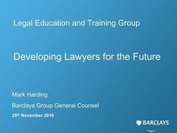 Barclays Group Organisation and Legal Entity Structure - LETG