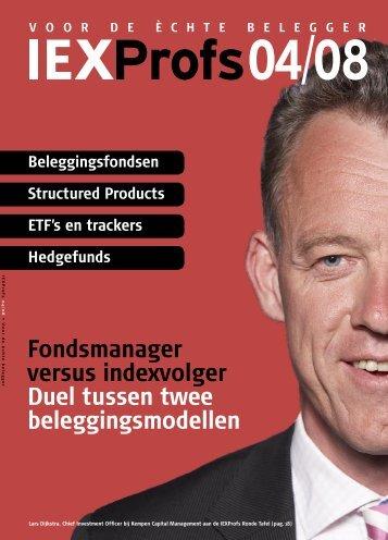 Fondsmanager versus indexvolger duel tussen twee ... - Iex