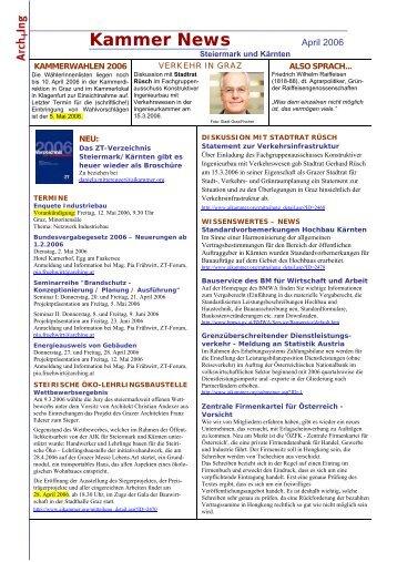 Kammer News - Kammer der ZiviltechnikerInnen für Steiermark und ...