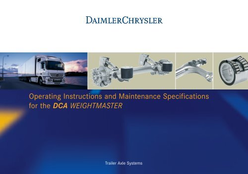 Operating Instructions and Maintenance Specifications for the DCA ...