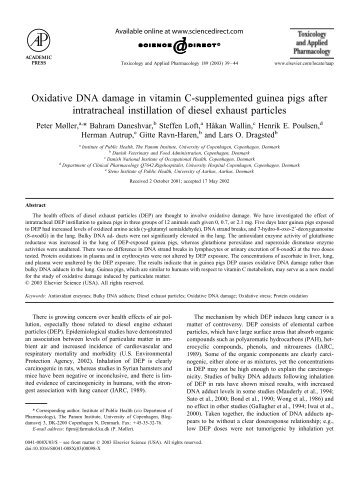 Oxidative DNA damage in vitamin C-supplemented guinea ... - CPNC