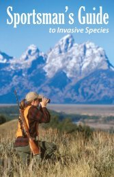 Sportsman's Guide to Invasive Species - School of Natural Resources