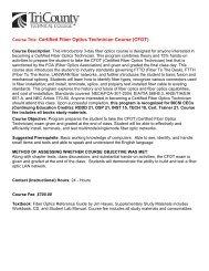 Course Title: Certified Fiber Optics Technician Course (CFOT)