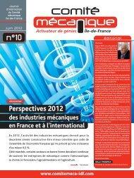 Journal d'information n° 10 - Juin 2012 - Comité mécanique Ile-de ...