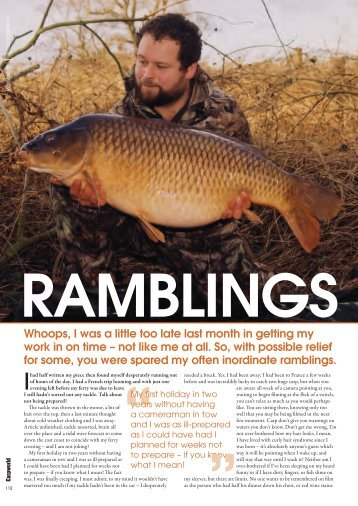 Ramblings - 2 - Quest Baits