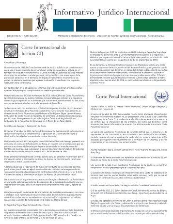 Edición No 17 - Abril del 2011 - Ministerio de Relaciones Exteriores