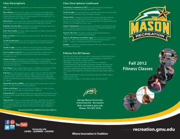 Download the Fall 2012 Fitness Class Brochure - George Mason ...