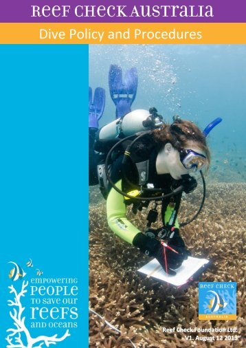 RCA Dive Policy and Procedures - Reef Check Australia