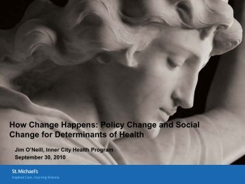 How Change Happens: Policy Change and Social Change for ...