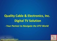 QCE Digital Optical Solutions - Quality Cable & Electronics
