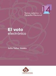 El voto electrónico - Tribunal Electoral del Poder Judicial de la ...