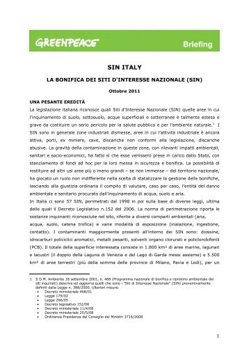 SIN Italy - Greenpeace