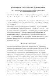 Glaubwürdigkeit Autorität und Einheit der Heiligen ... - Institut Diakrisis