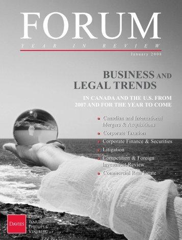 FORUM - Davies Ward Phillips & Vineberg LLP