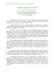 L'identité européenne et ses défis - Académie des sciences morales ...