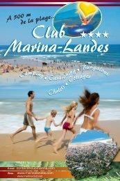 tarifs - Club Marina Landes