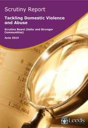 Scrutiny Inquiry into tackling domestic violence and abuse - final report