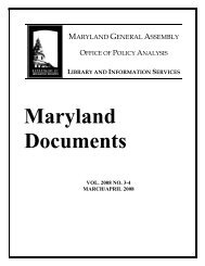 Maryland Documents, vol. 2008 no. 3-4, March/April 2008