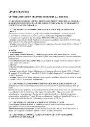 LINGUA FRANCESE - Scienze politiche