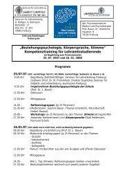 Veranstaltungsprogramm (pdf-Datei) - Zentrum für Lehrerbildung