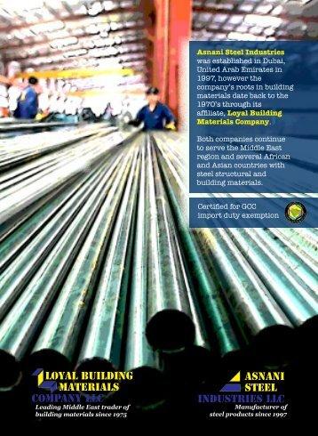 loyal building materials company llc Asnani Steel Industries llc