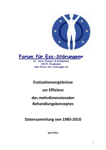Evaluationsstudie 2011 - Forum fuer Essstoerungen - Wiesbaden