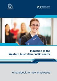 a handbook for new employees - Public Sector Commission - The ...
