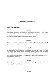 REGLEMENT DU CIMETIERE POLICE DU CIMETIERE Article 1 Le ...