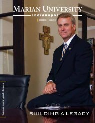 Download the Fall 2011 issue of the Marian University Magazine.