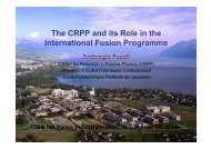 The CRPP and its Role in the I t ti l F i P International ... - Iter Industry