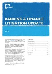 BANKING & FINANCE LITIGATION UPDATE - DLA Piper