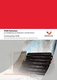 PUR-Patronen Cartouches PUR - Minova CarboTech GmbH