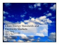 Clean Energy Standards and Electricity Markets - American Antitrust ...